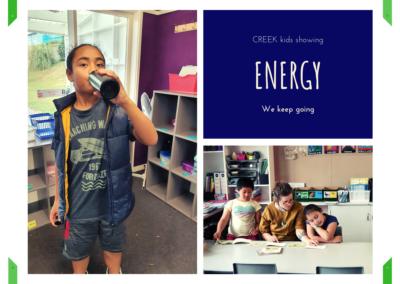CREEK kids showing Energy