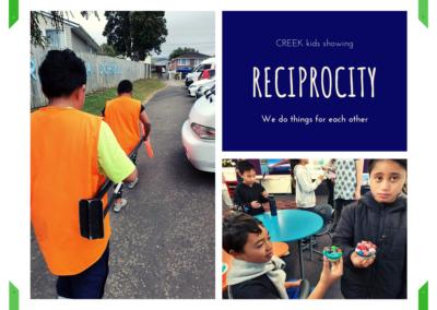 CREEK kids showing Reciprocity